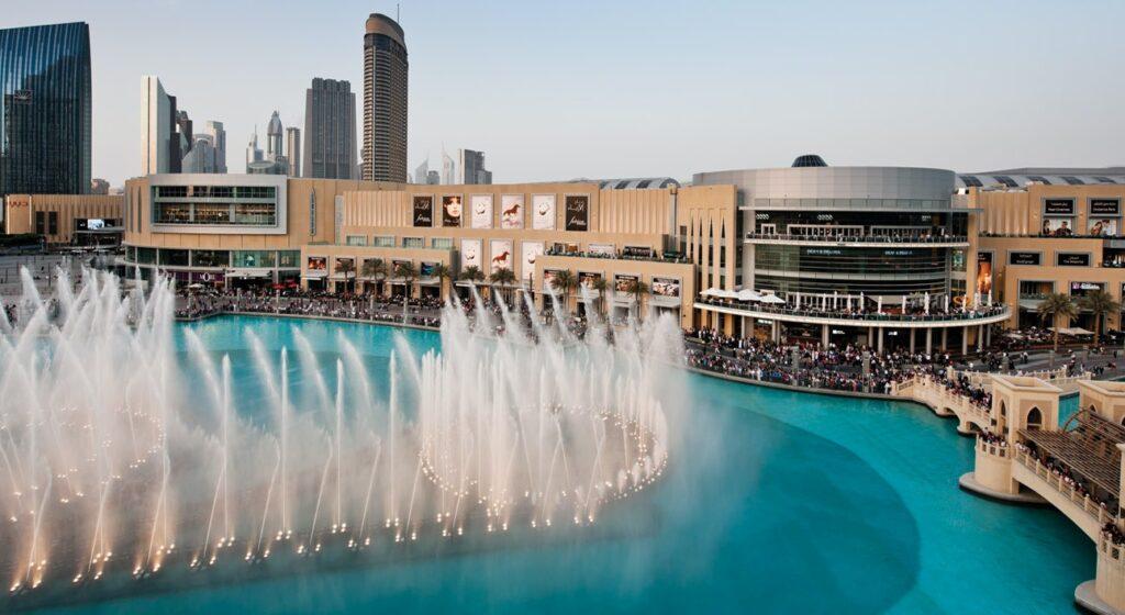 Dubai Mall and Dubai Fountains