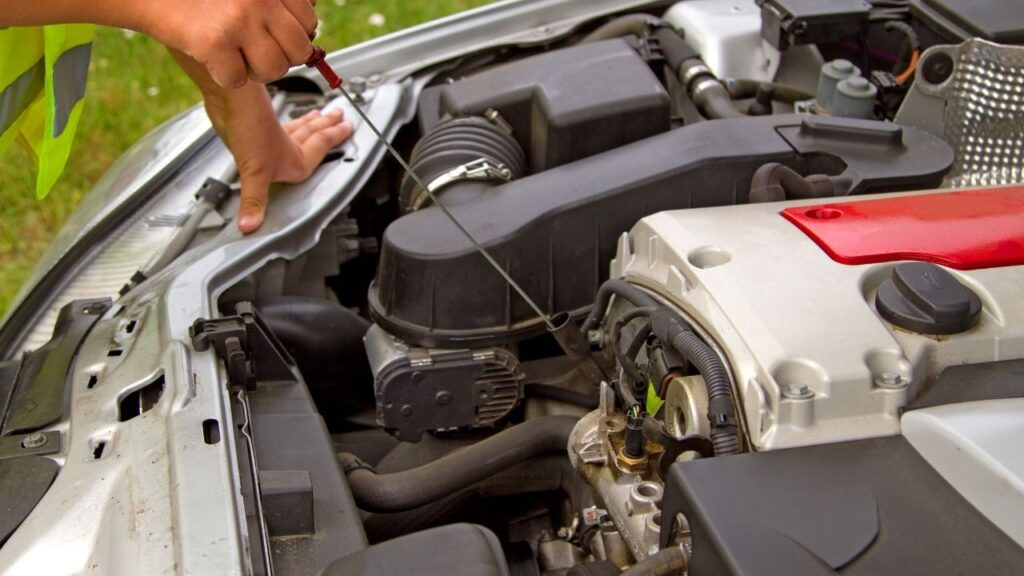 Engine Oil and Battery Check